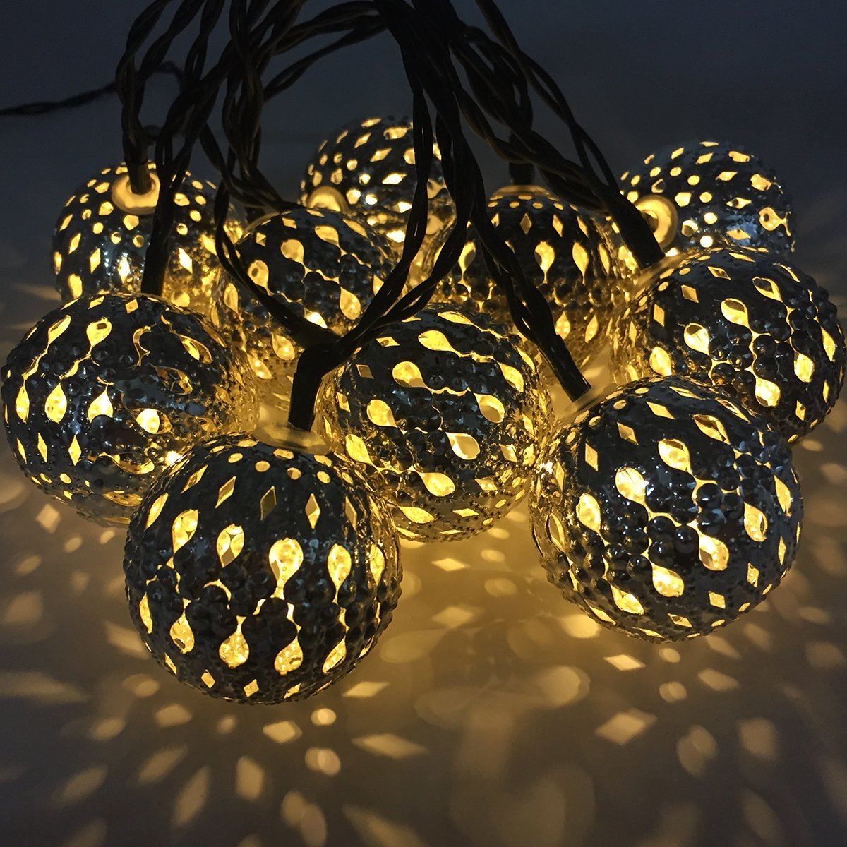 Solar Metal String Lights : Not Just Another Southern Gal: 10 LED Moroccan Metal Solar String Lights (Silver)