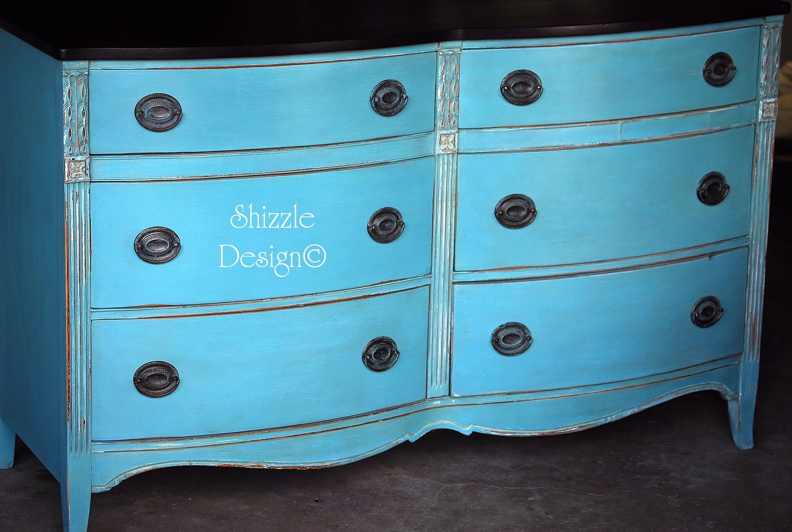 shizzle design my very first chalk painted dresser