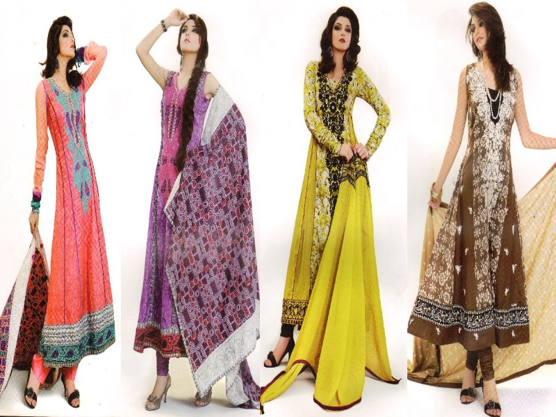 Pakistani frock dresses latest fashion styles.