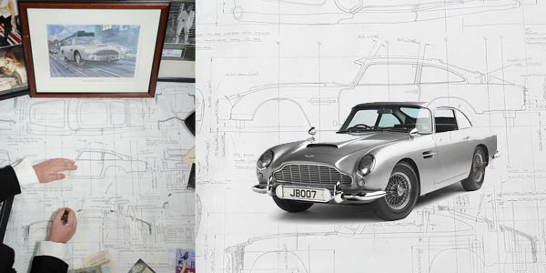 Aston Martin James Bond Blueprint Auctions