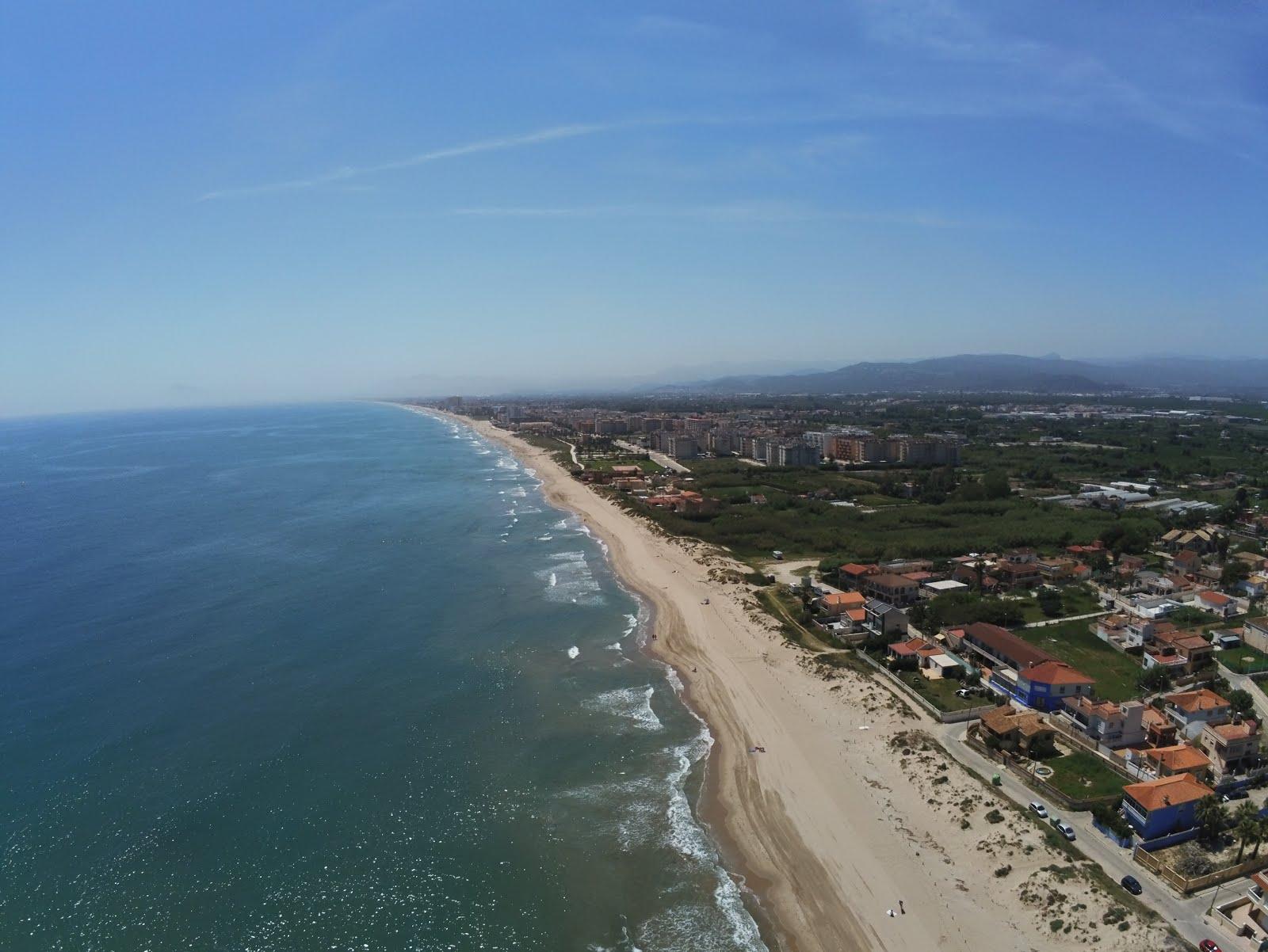 La Borrasca Gloria en la playa de Gandía (Valencia), a vista de drone