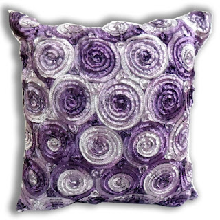 Satin purple pillow