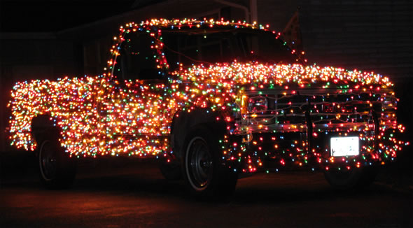 Think About Crazy Lights. If Wreaths Are Not Enough Decorations For Your  Beloved Car, You Can Always Have A Back Up Solution: Illuminate Your  Vehicle With ...
