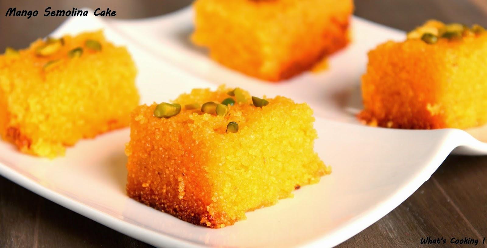 The noisy kitchen mango semolina cake its very easy to make and tastes real yummy more like mango kesariso off to the recipe forumfinder Choice Image