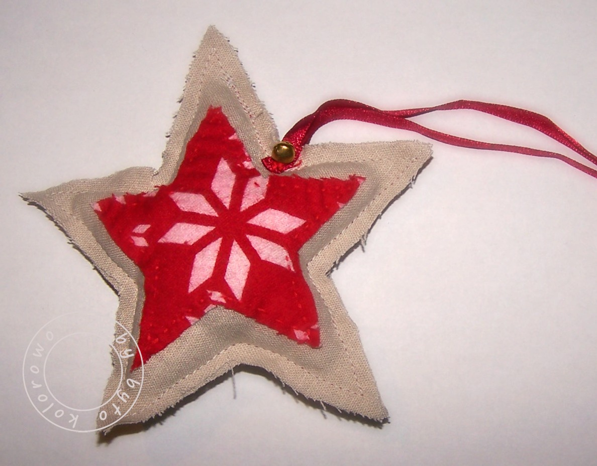sewing christmas star