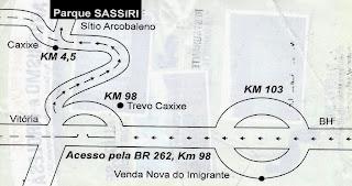 mapa para a Selva Sassiri