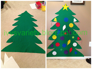 Toddler Christmas Tree in Felt