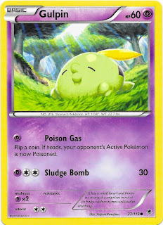 Gulpin Phantom Forces Pokemon Card