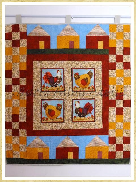 Panô patchwork, Painel Patchwork, Patchwork, Maria Adna, Publicado revista, revista patchwork