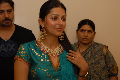 Actress with Diamond Necklace