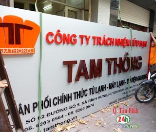 Làm bảng hiệu alu khu vực quận Tân Bình