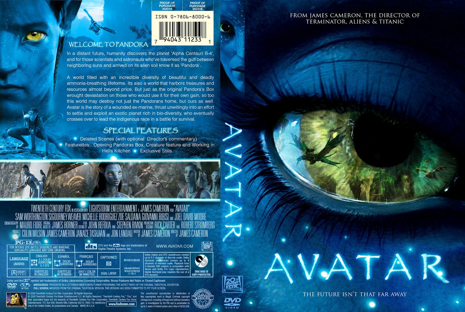 Avatar Dvd Movie Cover