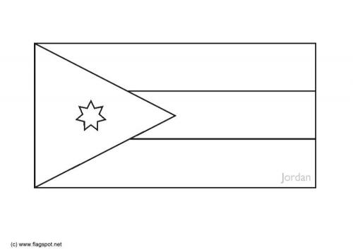 LAMINAS PARA COLOREAR - COLORING PAGES: Mapa y Bandera de Jordania ...