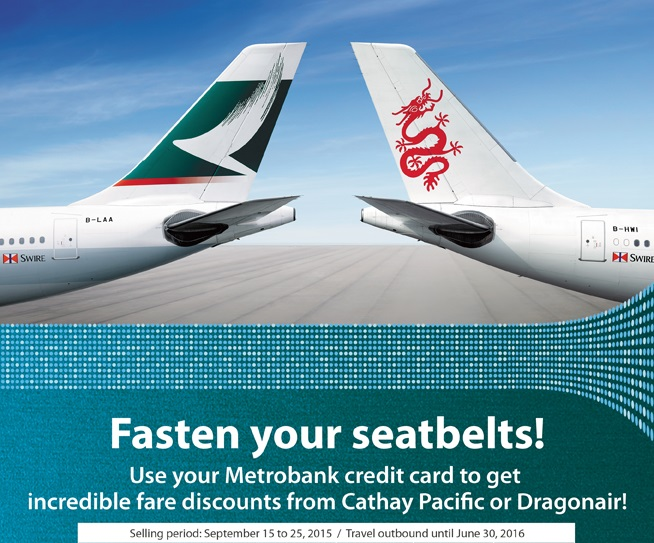 Cathay Pacific And Dragon Air Promo Using Your Metrobank