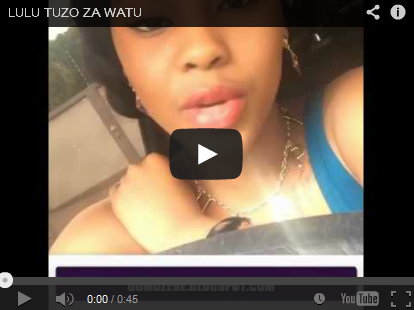 muigizaji kutoka bongo movie elizabeth michael aka lulu ameweka video