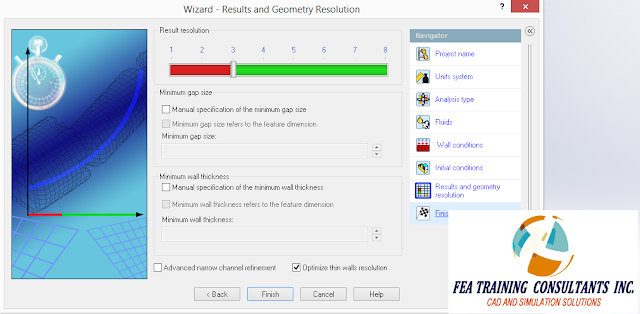results and geometry resolution flow wizard