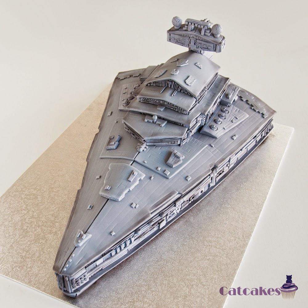 Tarta destructor imperial de Star Wars
