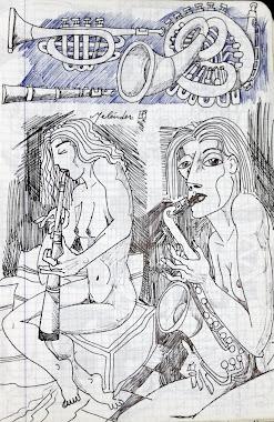 Tocando el oboe.