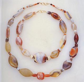 Agate, jasper, and carnelian beads
