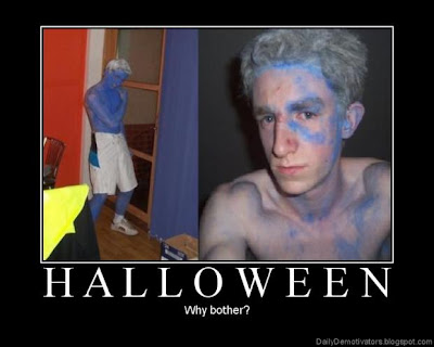 Halloween Why Bother Demotivational Poster