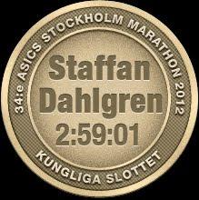2012 - Första gången sub3 på maraton (i tuffa förhållanden). Klicka för Race Rapport