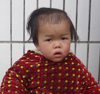 Rowyn age 3, waiting in China