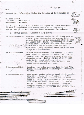 NORAD Command Directors Log - A