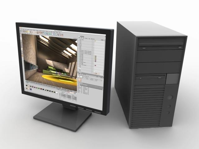 صورة لجهاز الكمبيوتر و تقدير استهلاكه من فاتورة الكهرباء