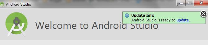 Notifikasi Update Info Android Studio