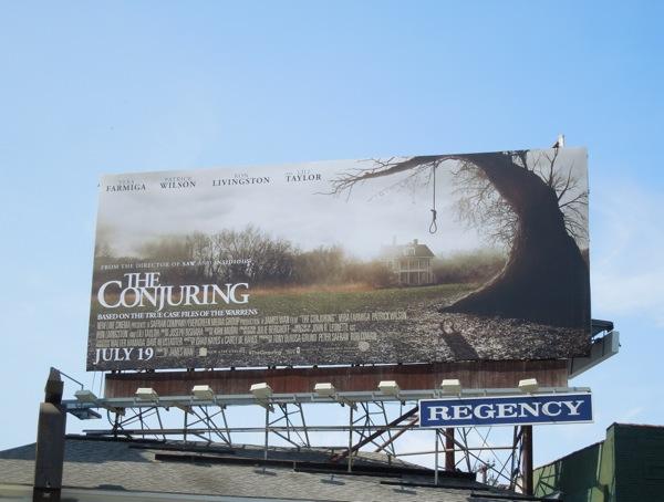 Conjuring movie billboard ad