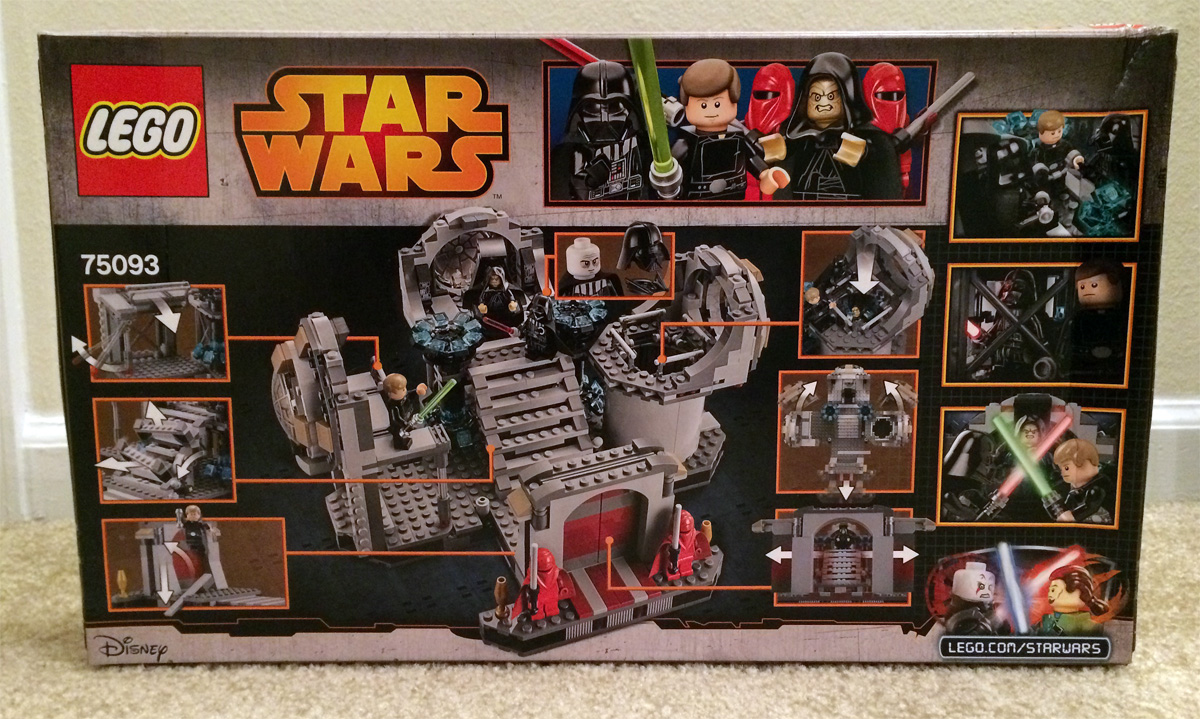 Star Wars Lego Review Death Star Final Duel 75093