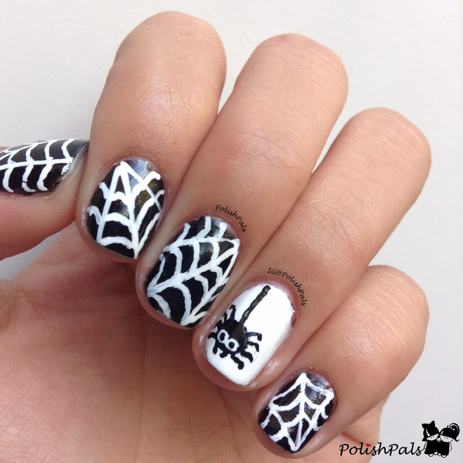Polish Pals: Spiderweb Nail Art Tutorial