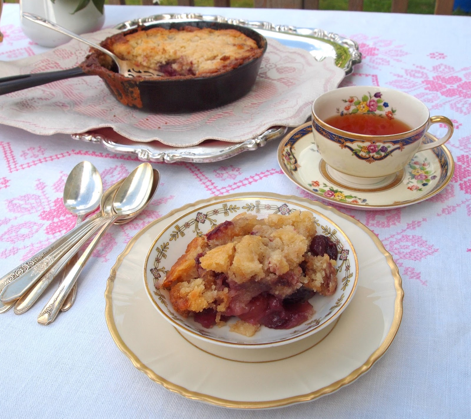 The Alchemist: Fresh Cherry Skillet Cobbler