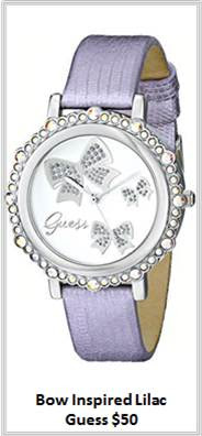 Sydney Fashion Hunter - Timeless Timepieces - Guess Bow Inspired Lilac Watch