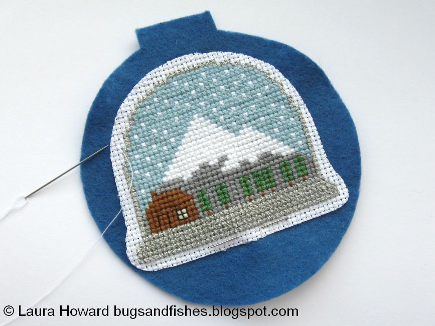 Bugs and Fishes by Lupin: How To: Cross Stitch Snow Globe Ornament