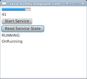 JavaFX example: Service