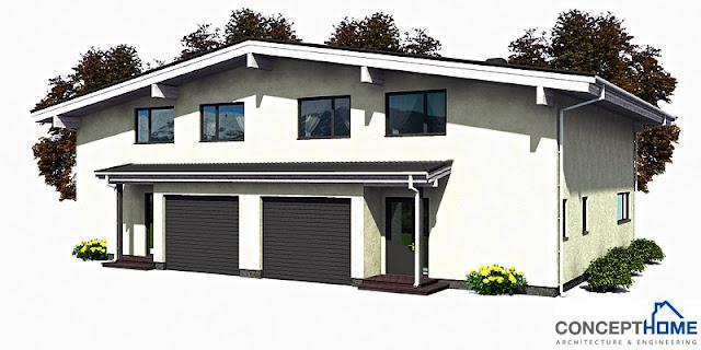 Affordable modern triplex design joy studio design for Cheap duplex plans