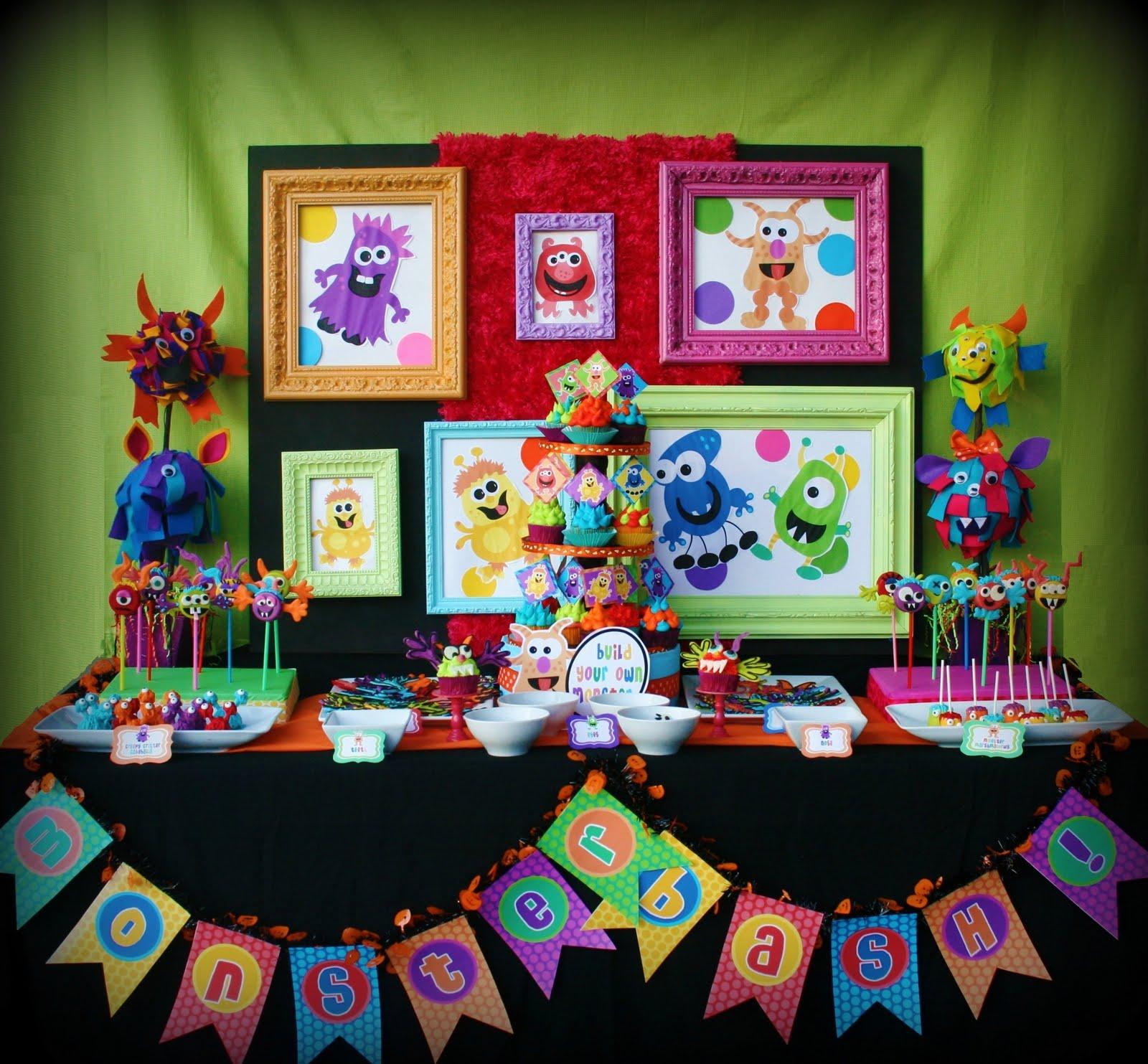 Karas Party Ideas Colorful Monster Bash