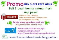 Buy 3 Henna Get FREE 1 bungkus Gems Asesoris Henna
