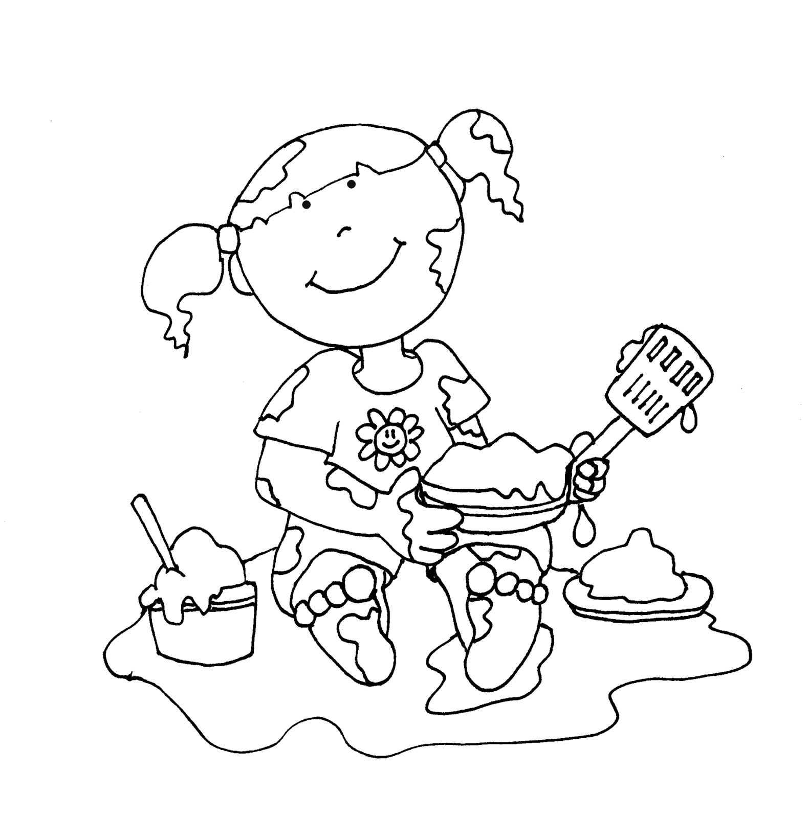 Image Result For Mud Coloring Page Clipart