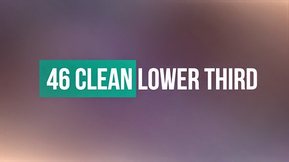 VideoHive 46 Clean Lower Third