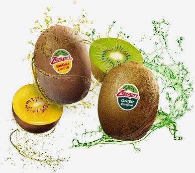 Kiwis Zespri SunGold y Green sabor propiedades