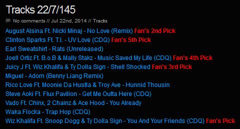 Download [Mp3]-[NEW TRACK RELEASE] เพลงสากลเพราะๆ ออกใหม่มาแรงประจำวันที่ 22 July 2014 [Solidfiles] 4shared By Pleng-mun.com