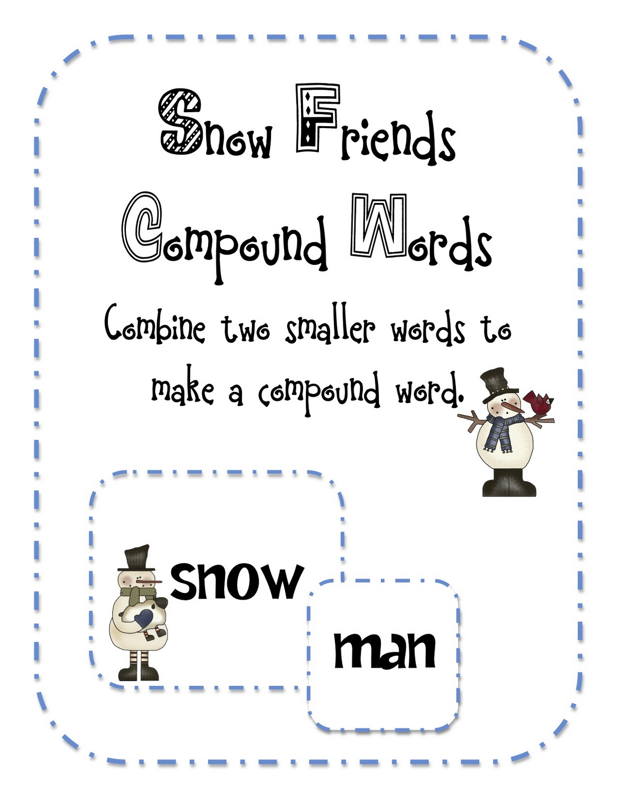 Buzzing with Ms. B: Snow...man....SNOWMAN! (updated with freebie!)