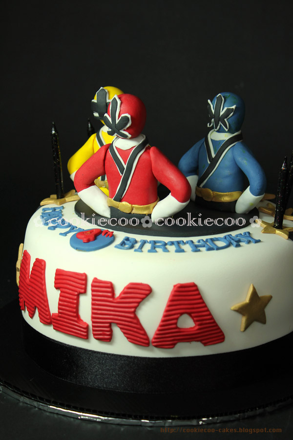 Power Rangers Guys Birthday Cake