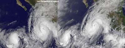 JOVA kurz vor Landfall, IRWIN wieder da, BANYAN geboren, Jova, Irwin, Banyan, aktuell, Satellitenbild Satellitenbilder, Oktober, 2011, Hurrikansaison 2011, Taifunsaison, Philippinen, Mexiko, Pazifik,