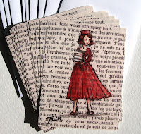 Recycled Book Notecards