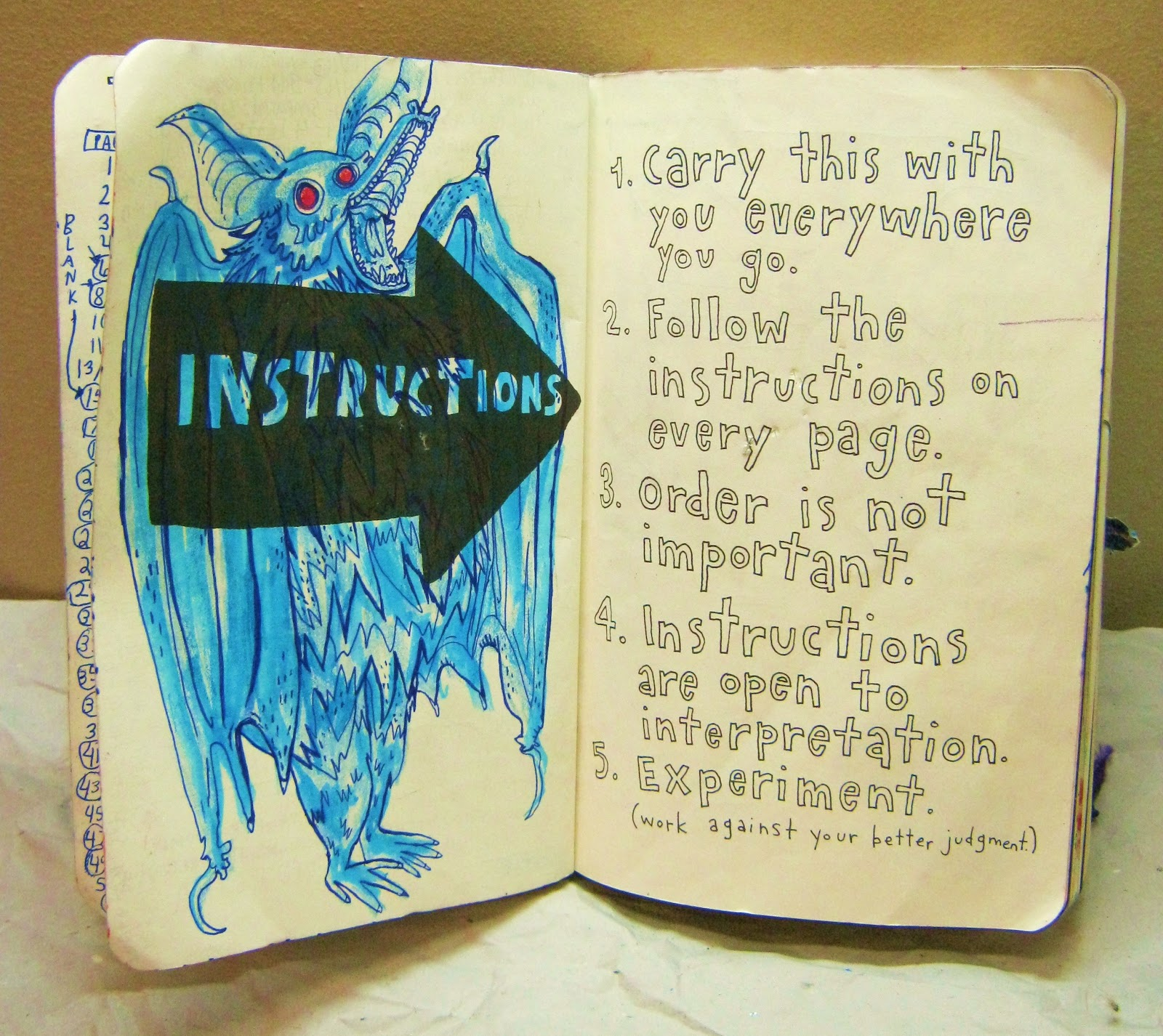 Trina is artsy fartsy wreck this journal the instructions page not yet in its final stage of development solutioingenieria Images