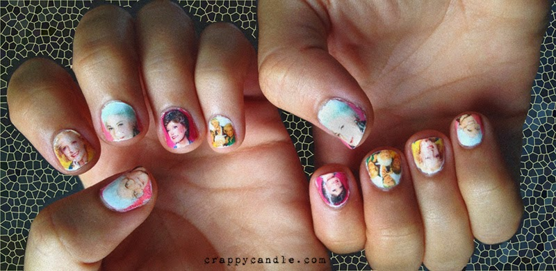 Golden Girls Nail Art | Crappy Candle