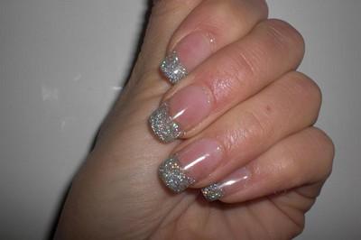 naglar glitter tippar